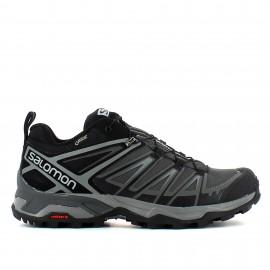 Zapatillas montaña Salomon X Ultra 3 GTX negra hombre