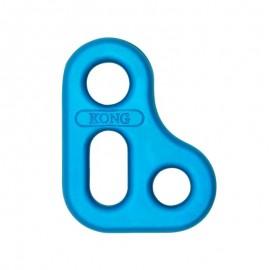 Placa Slyde aluminio autolocking anodizado azul escalada