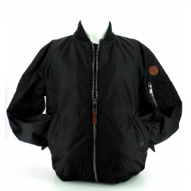 Top Gun mens woven nylon jacket black