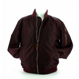 Top Gun mens woven nylon jacket burgundy
