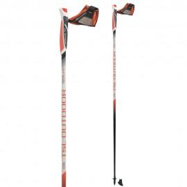 Baston Nordico Walking Tsl Tactil C50 carbono naranja