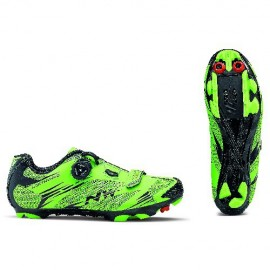Zapatillas Northwave Scorpius 2 Plus mtb verde acido-negro