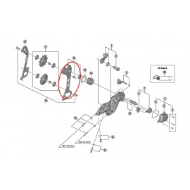 Portapoleas exterior Shimano cambio M7000 GS 11 velocidades