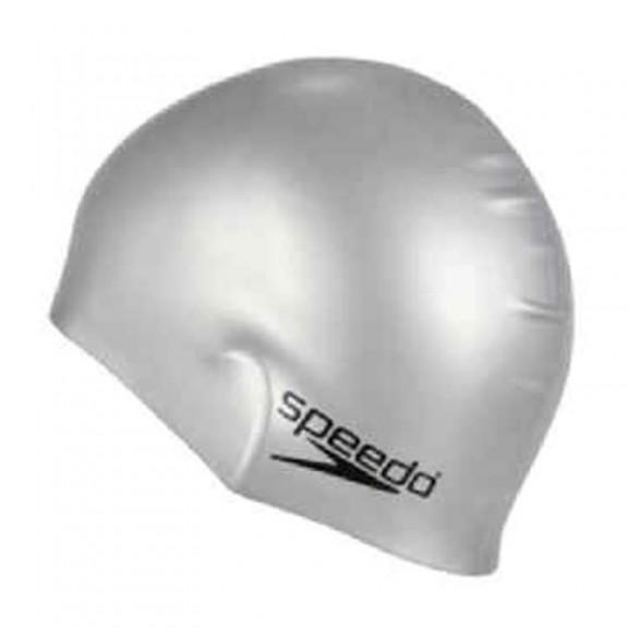 Speedo Plain Flat Silicone Cap Silver  8-709911181