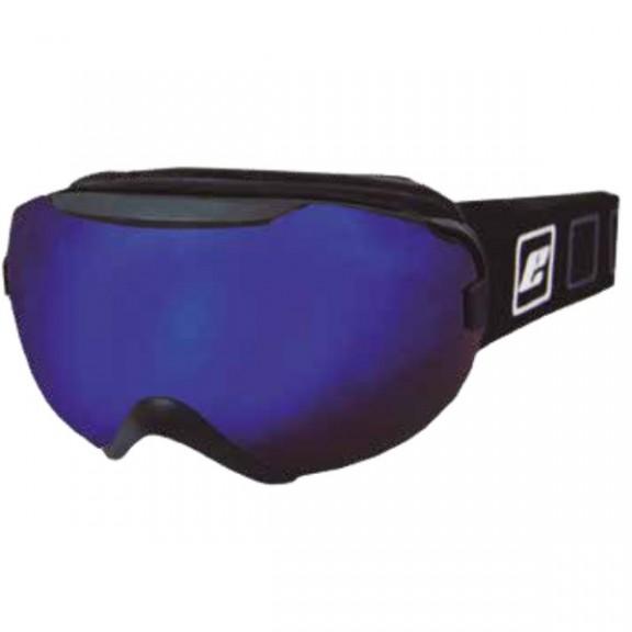 Mascara esquí Eassun Marmot negro mate lentes azul espejo