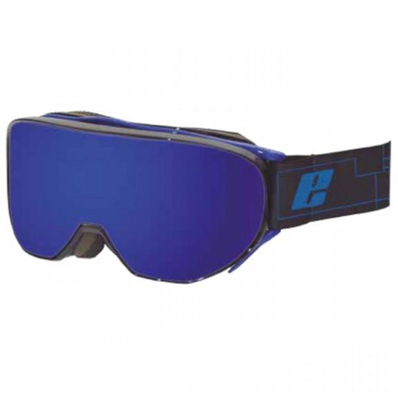 Mascara esquí Eassun Cervo negro mate lentes azul  hombre