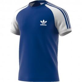 Camiseta adidas 3 Stripes Tee azul hombre