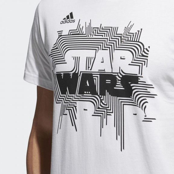 half off f4090 dc1e1 Camiseta adidas Star Wars Blanco hombre