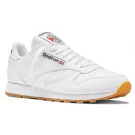 Zapatillas Reebok Cl Leather blanco suela marron hombre