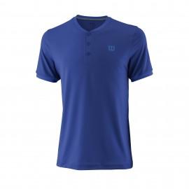 Camiseta tenis/padel Wilson UWII Henley azul hombre