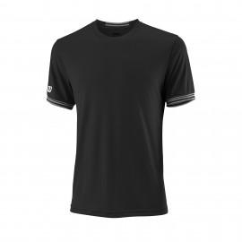 Camiseta tenis/padel Wilson Team Solid negra hombre