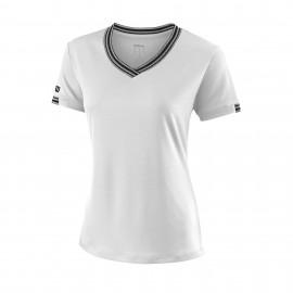 Camiseta tenis/padel Wilson Team blanca mujer