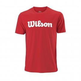 Camiseta tenis Wilson UWII Script roja hombre