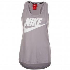 Camiseta Nike Essential Tank gris mujer