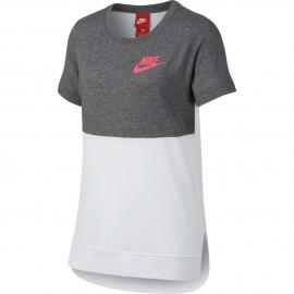 Camiseta Nike Sportswear blanco/gris niña