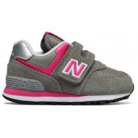 Zapatillas New Balance YV574GP gris/rosa niña