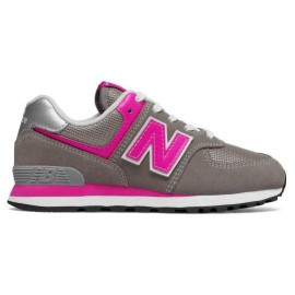 Zapatillas New Balance GC574GP gris/rosa junior