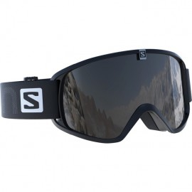 Mascara Salomon Trigger negro lente espejo plata