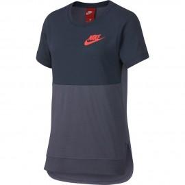 Camiseta Nike Sportwear azul  niña