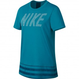Camiseta Nike Dry Training Top turquesa/azul niña