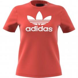 Camiseta Adidas Trefoil Tee rojo mujer