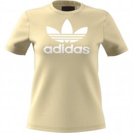 Camiseta Adidas Trefoil Tee amarillo blanco mujer