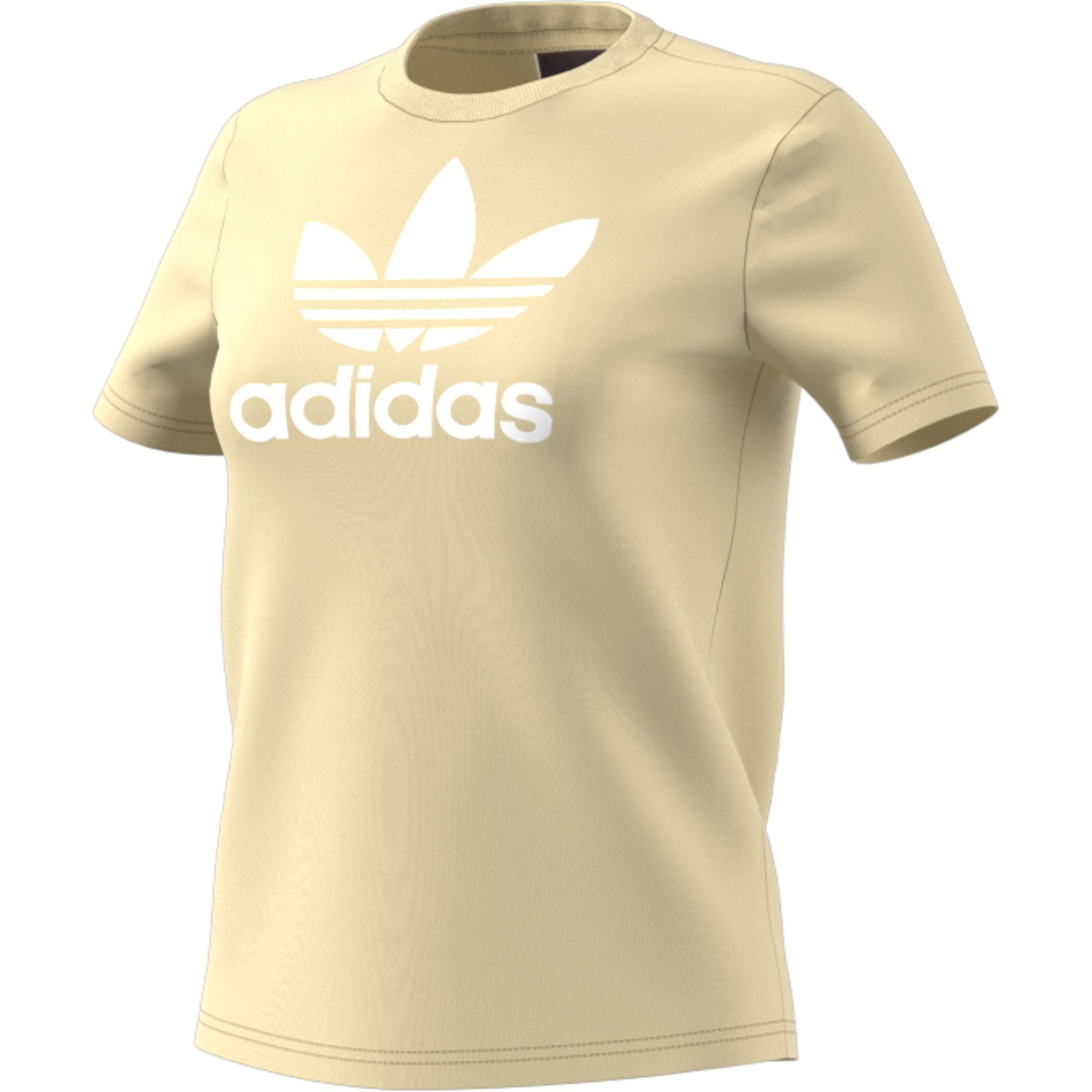 Trefoil Adidas Tee Amarillo Deportes Moya Mujer Blanco Camiseta O58PSnwqP