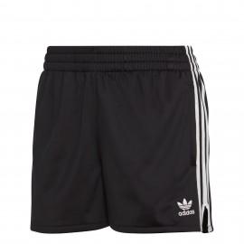 Pantalón corto Adidas 3 bandas negro mujer