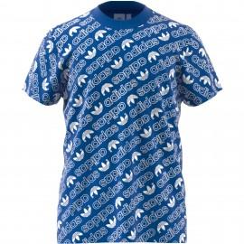 Camiseta Adidas Aop Tee azul hombre