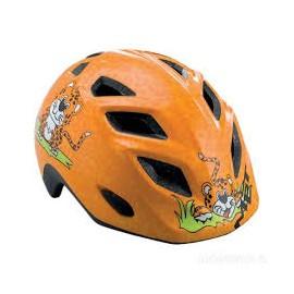 Casco Met Genio naranja guepardo infantil