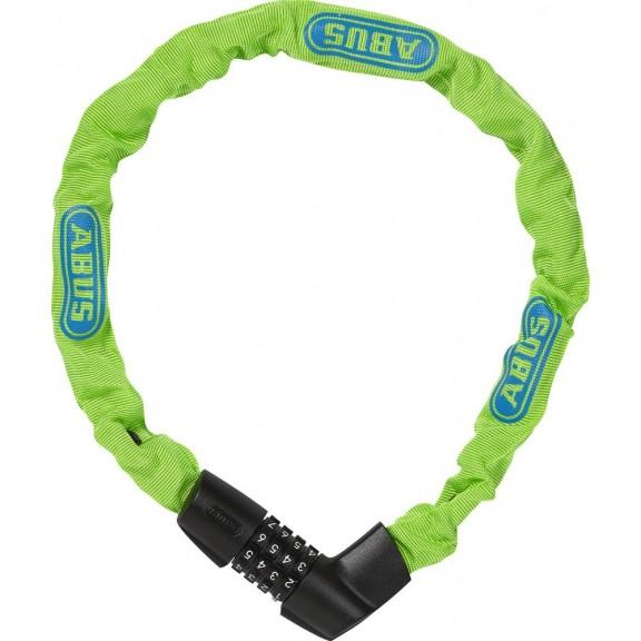 Cadena Abus Tresor 1385/75 color neon verde 6 mm