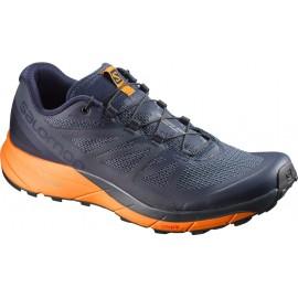 Zapatillas trail Salomon Sense Ride azul/naranja hombre