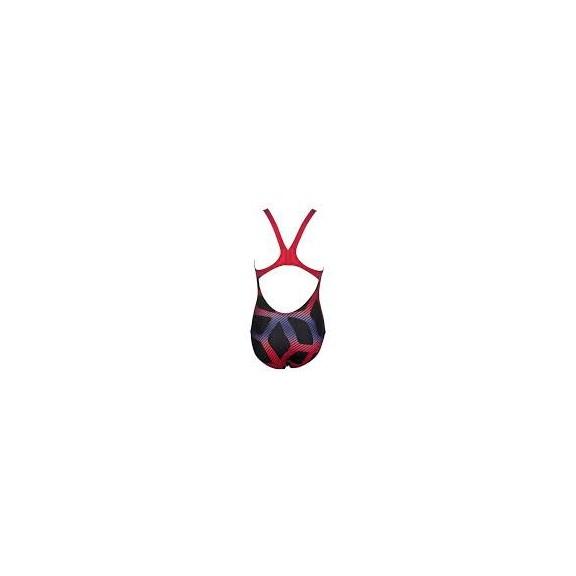 Bañador Arena 1P Spider jr one piece black/red niña