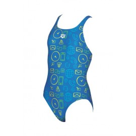 Bañador Arena 1p Gadget azul junior