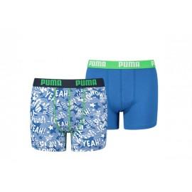 Boxer de algodon Puma 585007001 verde pack 2 junior