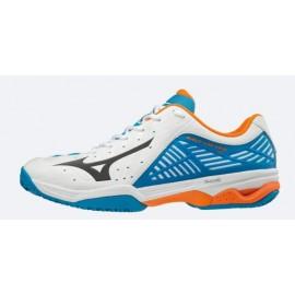 Zapatillas de padel Mizuno Wave Exceed 2 CC blanco/azul homb