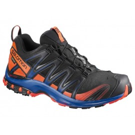 Zapatillas trail running Salomon Xa Pro 3D GTX negra/naranja