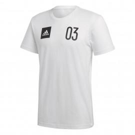Camiseta adidas Stadium Tee blanco hombre