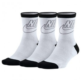 Calcetines Nike Stripped Low blanco/negro mujer