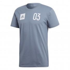 Camiseta adidas Stadium Tee hombre azul