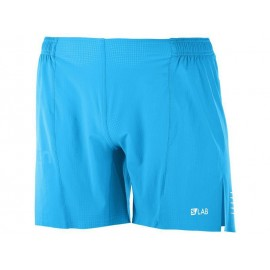 Pantalon trail running Salomon S/Lab Short 6 M azul hombre