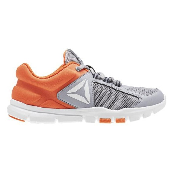 1b5f0d3108b8b Zapatillas Reebok Yourflex Train 9.0 Gris Naranja Junior - Deportes Moya