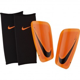 Espinilleras Nike Mercurial Lite naranja adulto