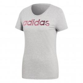 Camiseta Adidas  Foil Logo gris mujer