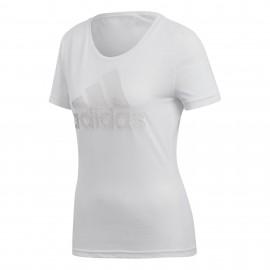 Camiseta adidas ID Badge of Sport blanco mujer