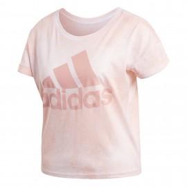Camiseta Adidas Essentials All Over Printed rosa mujer