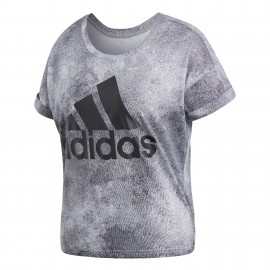 Camiseta Adidas Essentials All Over Printed gris mujer
