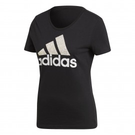 Camiseta Adidas Foil Text negro mujer