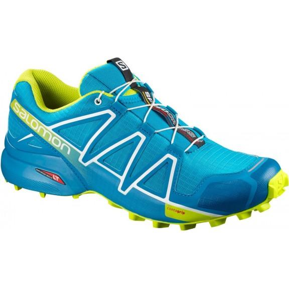 854b34654ea Zapatillas Trail Salomon Speedcross 4 Azul/Lima Hombre - Deportes Moya