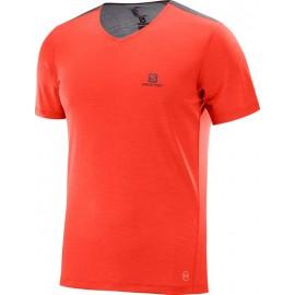 Camiseta senderismo Salomon Cosmic Block naranja hombre
